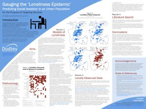 Poster on analysis of loneliness in Dudley Borough